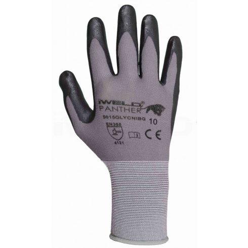 Iweld hegesztéstechnika Panther Lycra/nylon, nitril tenyér mártott védőkesztyű, 10-es 5015GLYCNIBG10