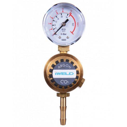 IWELD MINIREG CO2 nyomáscsökkentő 230/22L 1 manométeres 5MNGCO23022S
