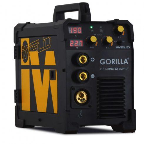 IWELD hegesztőgép GORILLA POCKETMIG 205 ALUFLUX hegesztő inverter BLACK CHRONO LIMITED 80POCMIG205