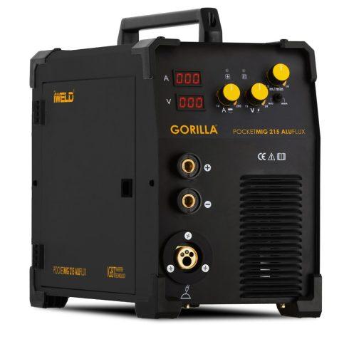 IWELD GORILLA POCKETMIG 215 ALUFLUX Hegesztő inverter hegesztőgép hegesztés 80POCMIG215