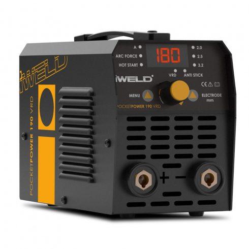 IWELD GORILLA POCKETPOWER 190 VRD Hegesztő inverter inverteres hegesztőgép hegesztés 80POCPWR190